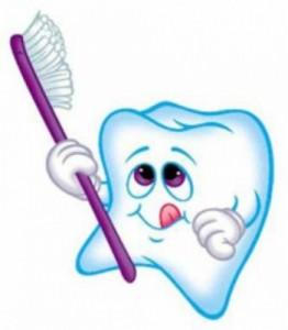 зуб и щетка