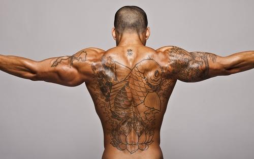 накаченная мужская спина