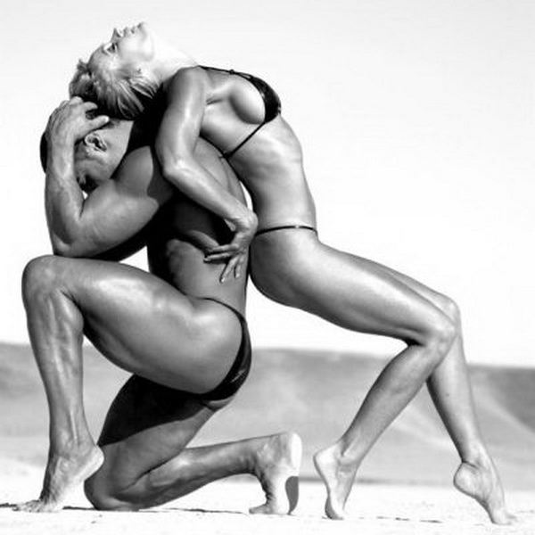 спортивные мужчина и женщина