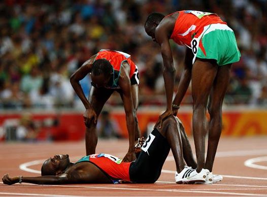 Уставшие спортсмены