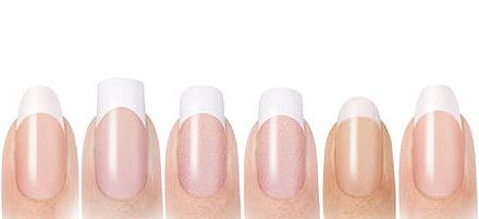 эскизы форм ногтей