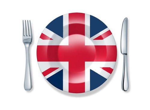 британский флаг на тарелке