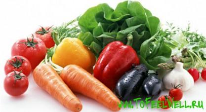 овощи и зелень на белом фоне
