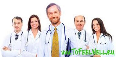 врачи улыбаются на белом фоне