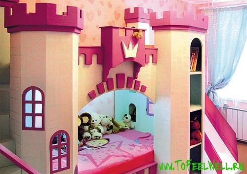 детская кроватка-замок