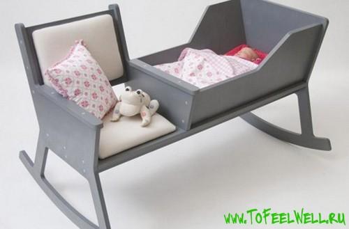 Кроватка качалка своими руками фото