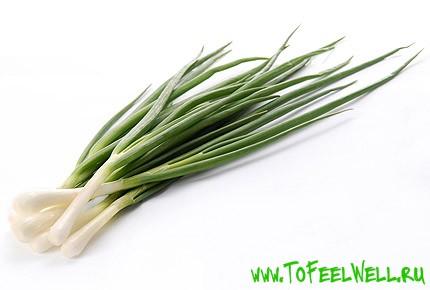 перья зеленого лука на белом фоне