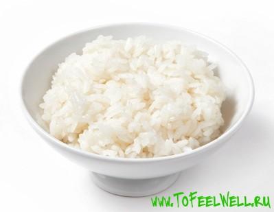 тарелка с рисом на белом фоне